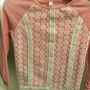 Beautees Girl Shirt with Lace